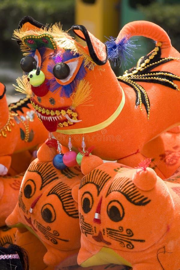 De traditionele tijger van de ambachtsdoek stock afbeeldingen