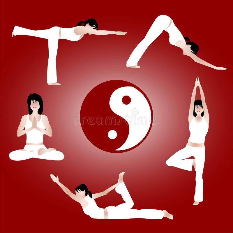 De training van de yoga stock illustratie