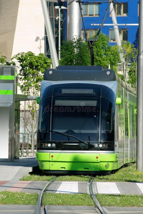 De tram van Bilbao royalty-vrije stock fotografie