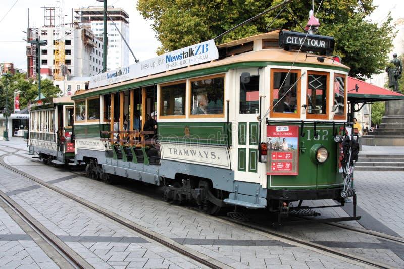 De tram van Christchurch stock afbeeldingen