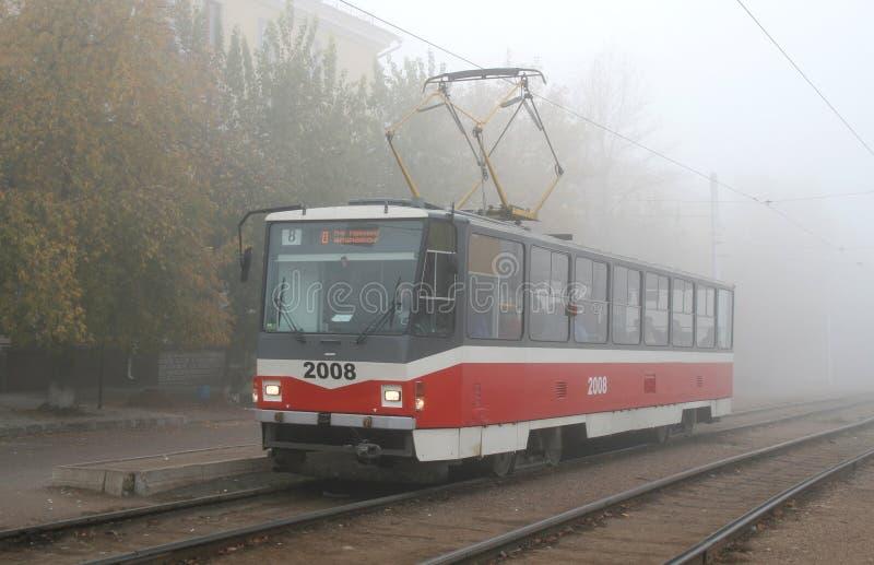 De tram van de stad stock afbeeldingen