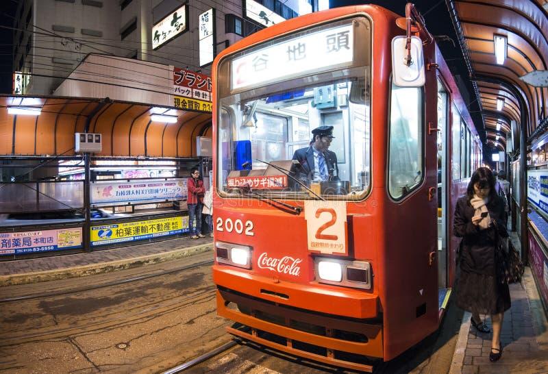 De Tram van Hakodate stock afbeelding