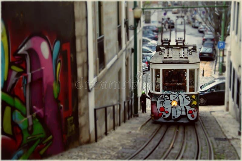 De Tram van Portugal stock foto's