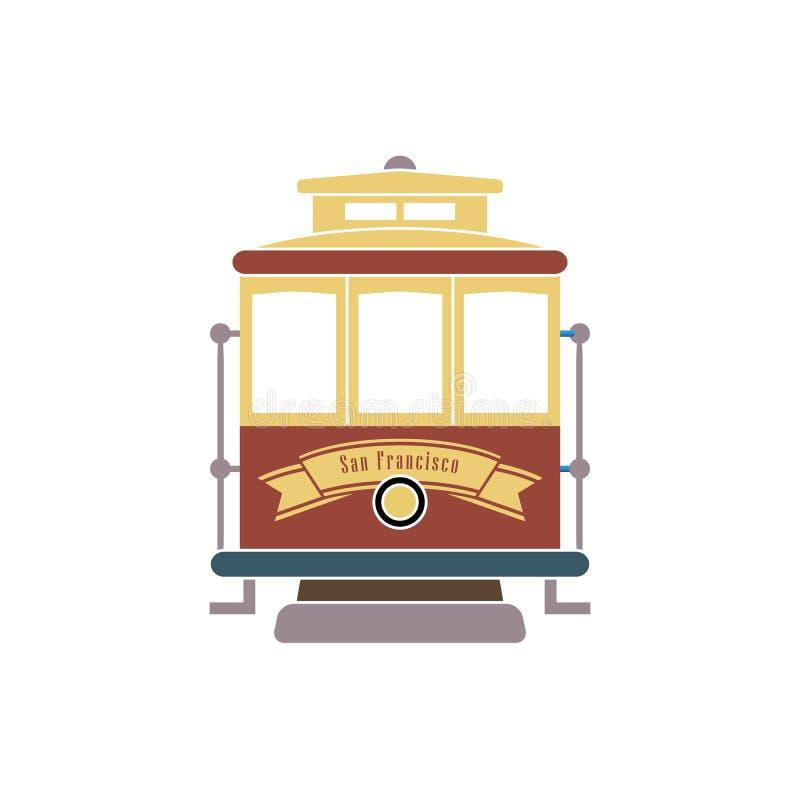De tram van San Francisco stock illustratie