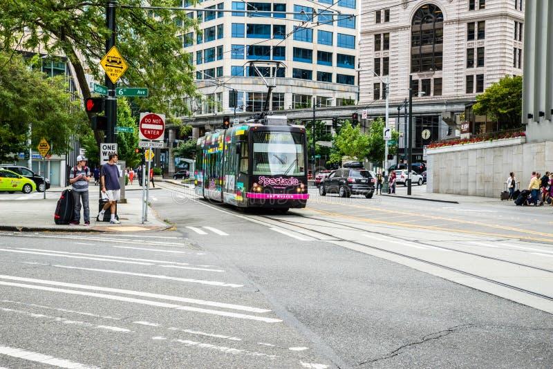 De Tram van Seattle royalty-vrije stock foto