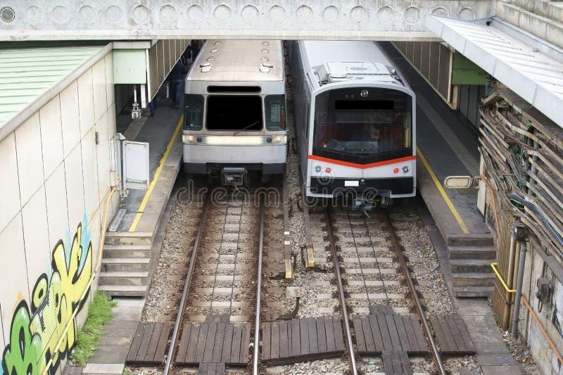 De Tram van Wenen stock fotografie