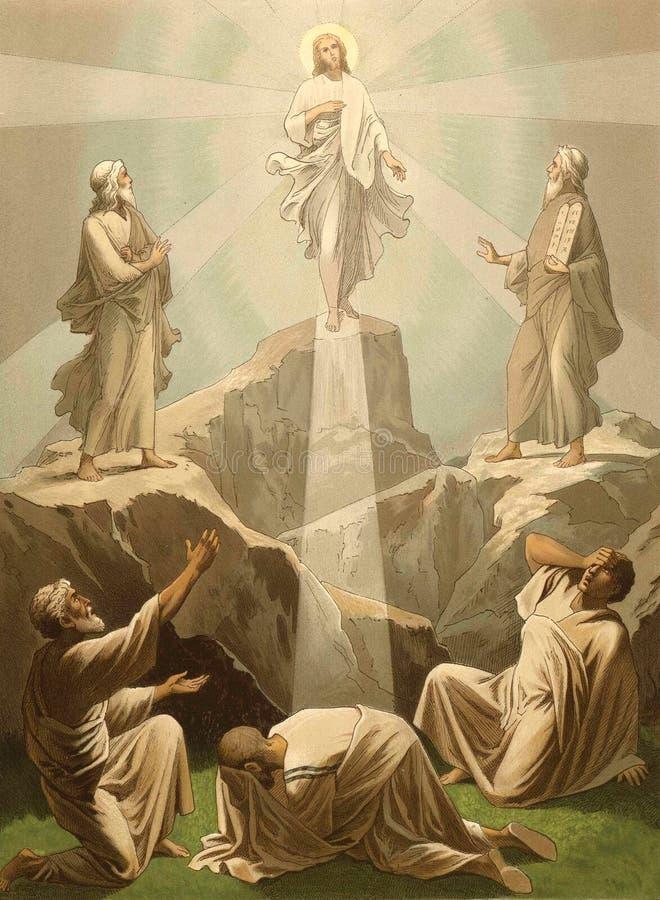 De Transfiguratie van Christus royalty-vrije illustratie