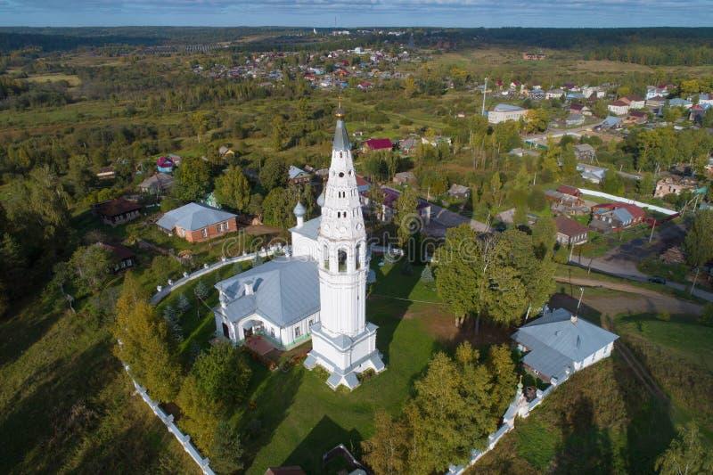 De Transfiguratiekathedraal, Kostroma-gebied Rusland stock foto