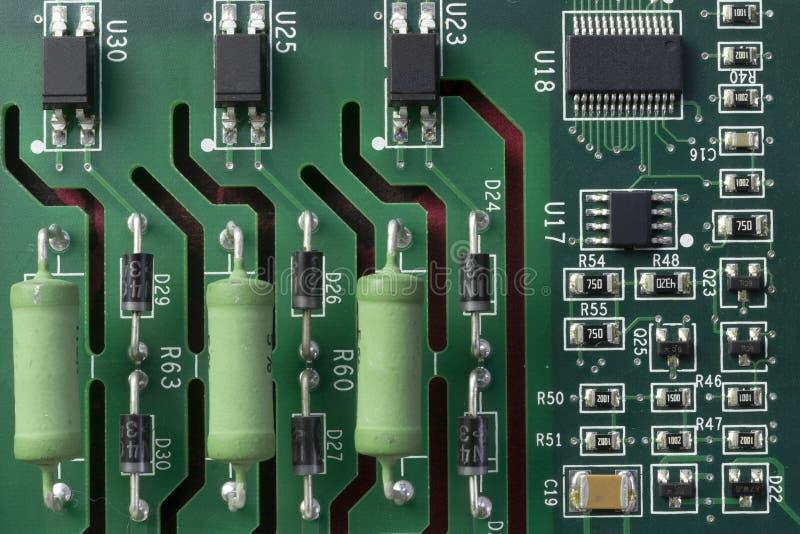 De Transistors en de Condensatoren van PCB royalty-vrije stock fotografie