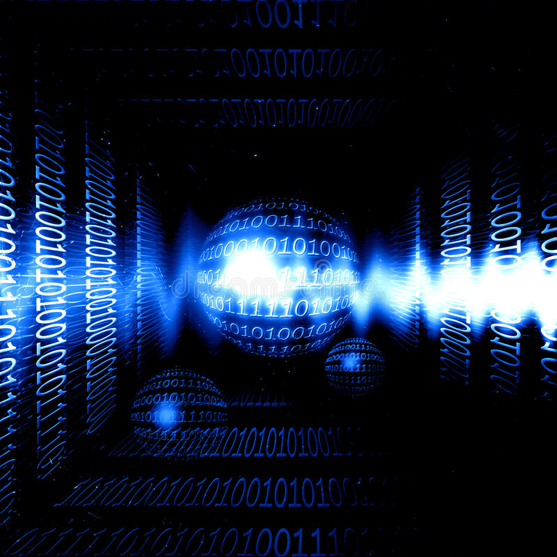 De transmissie van gegevens vector illustratie