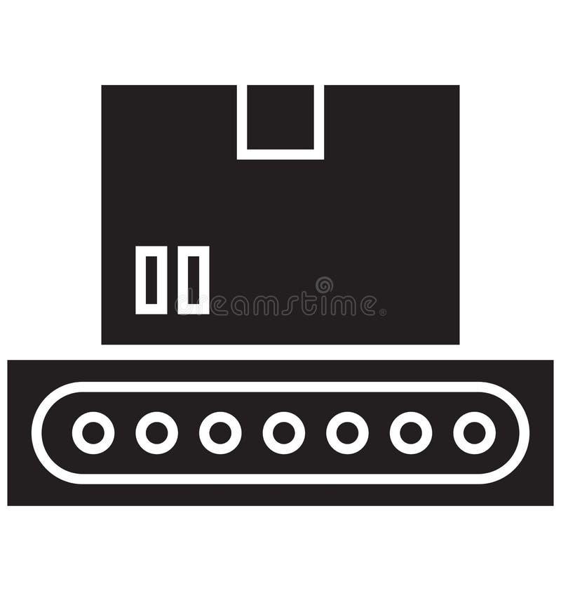 De transportband, riem Geïsoleerd Vectorpictogram kan gemakkelijk worden gewijzigd of uitgeven royalty-vrije illustratie