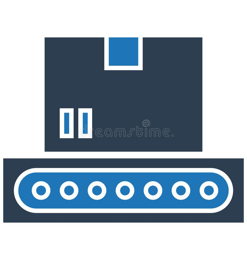 De transportband, riem Geïsoleerd Vectorpictogram kan gemakkelijk worden gewijzigd of uitgeven vector illustratie