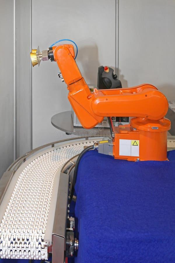 De Transportband van het robotwapen stock fotografie