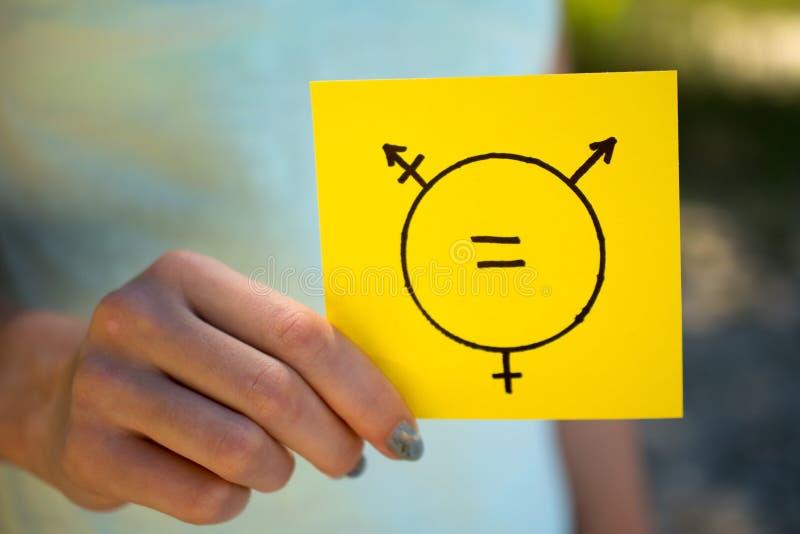 De transsexueelsymbool van het gendergelijkheidconcept royalty-vrije stock afbeeldingen