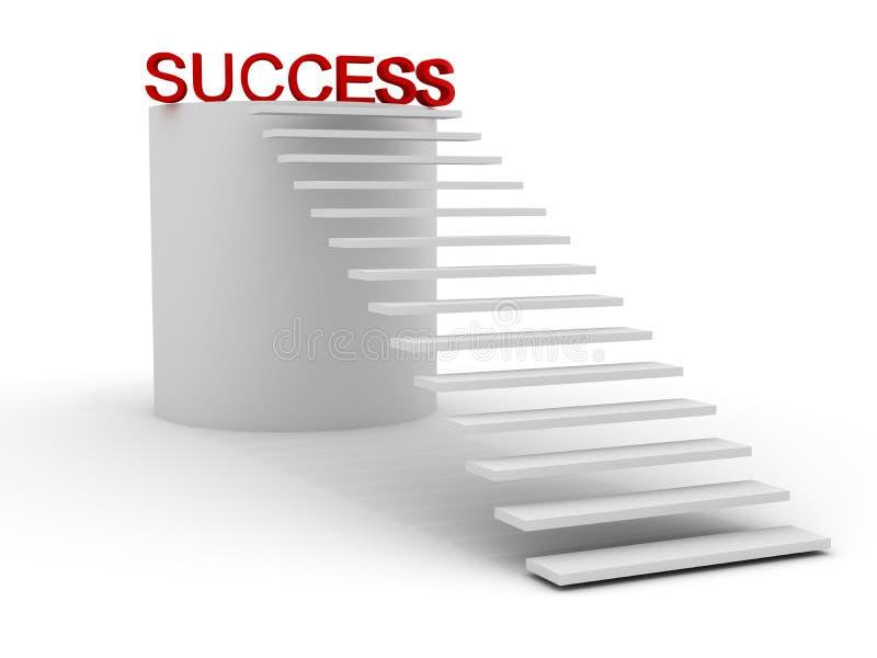 De trap leidt tot succes stock illustratie