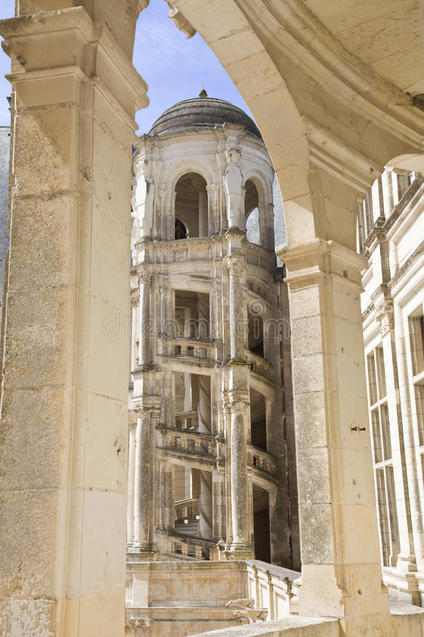 De trap van Chambord royalty-vrije stock fotografie