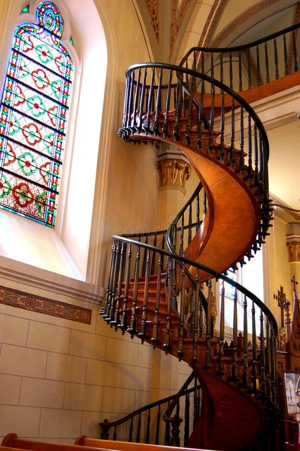 De Trap van de Kapel van Loretto royalty-vrije stock afbeeldingen