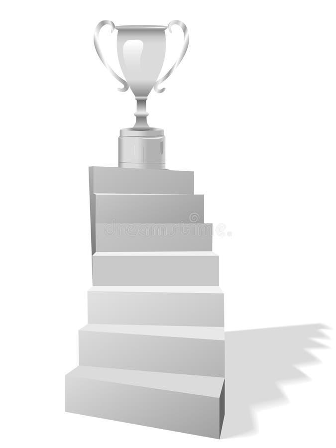 De Trap van treden aan de Trofee van het Doel vector illustratie