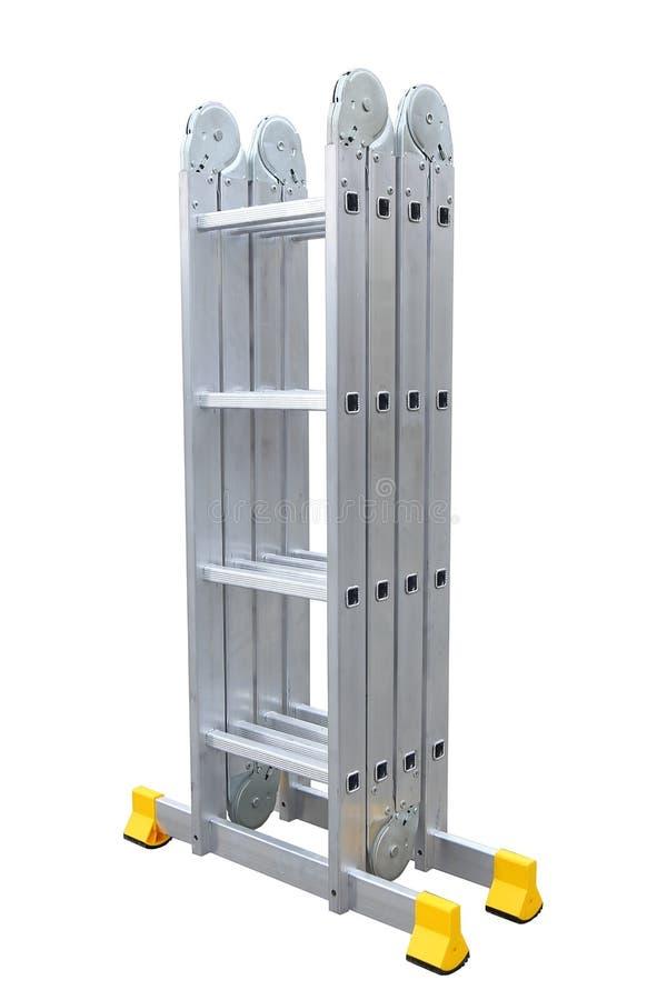 De trapladder van het aluminiummetaal royalty-vrije stock afbeelding