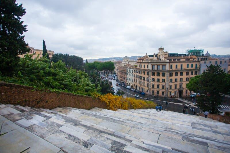 De trapmening van Rome, het landschap van Rome, Italië royalty-vrije stock afbeelding