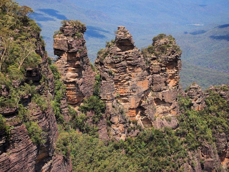 De tre systrarna, blåa berg, Australien royaltyfria foton