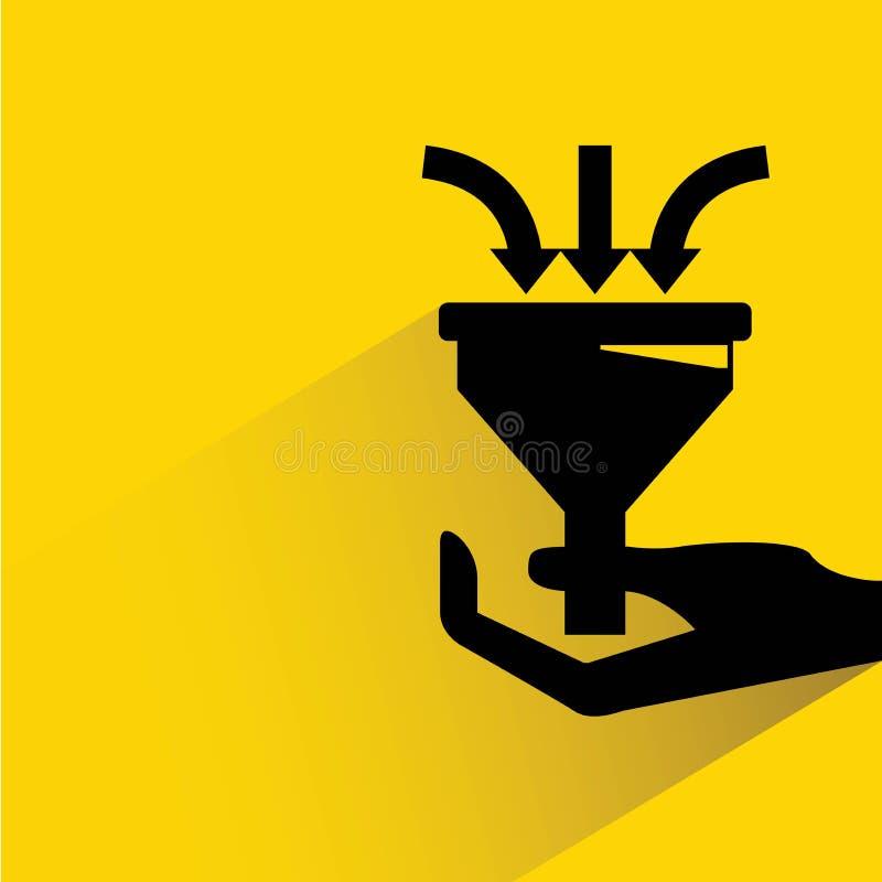 De trechter van de handholding royalty-vrije illustratie