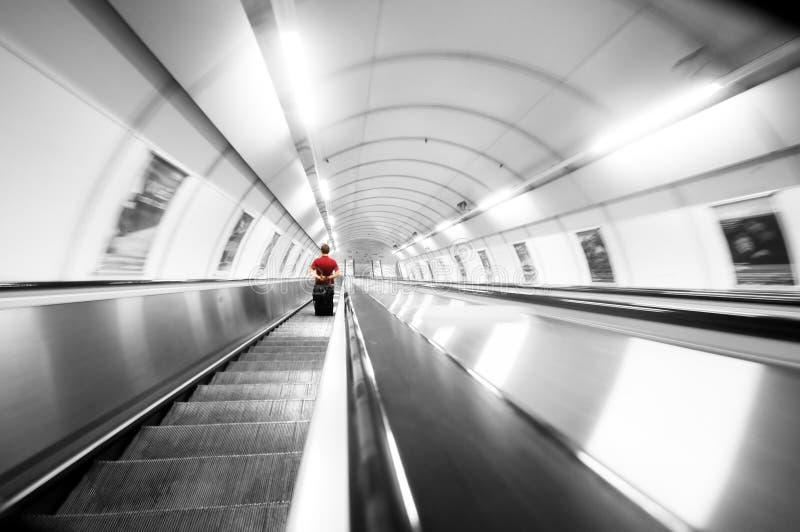 De treden van de metro. Motie stock afbeeldingen