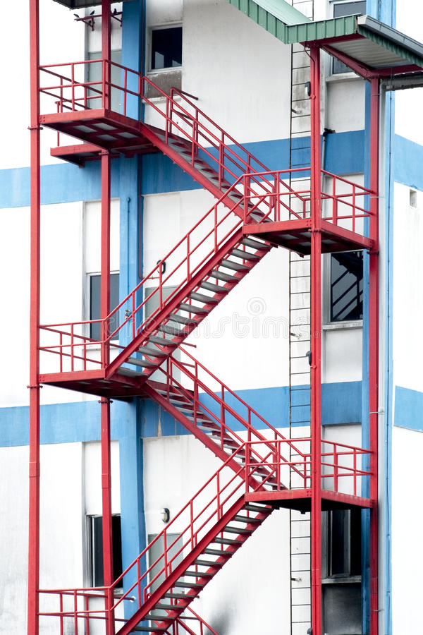 De treden van de nooduitgang stock fotografie
