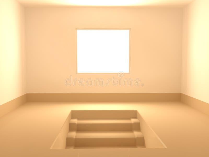 De Treden van de Zaal van het venster royalty-vrije illustratie