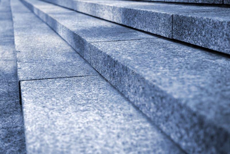 De treden van het graniet stock afbeelding