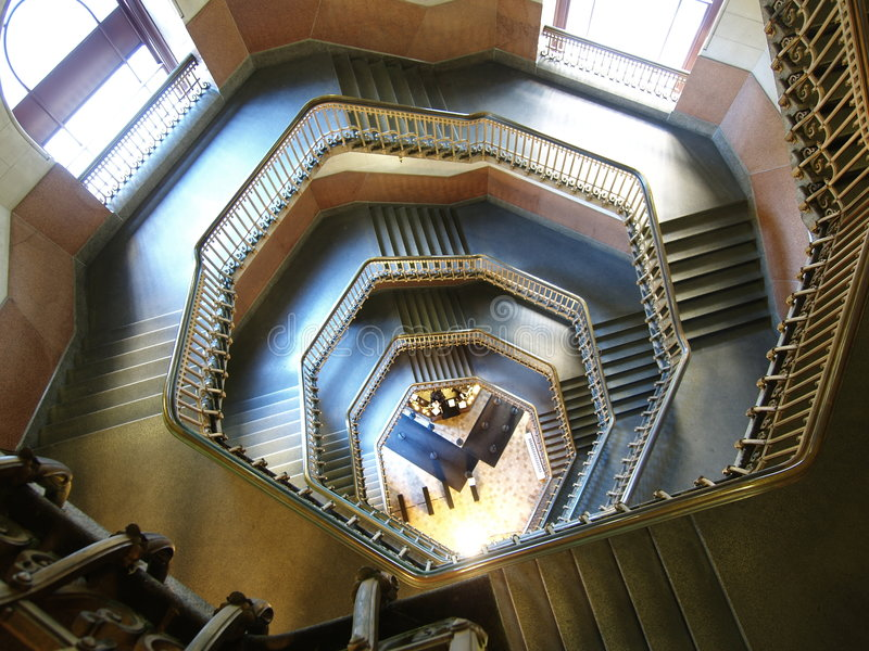 De Treden van het stadhuis royalty-vrije stock foto's