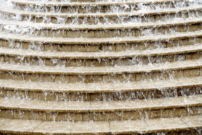 De treden van het water stock foto's