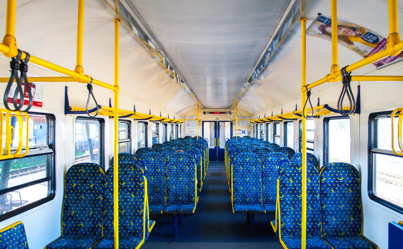 In de trein royalty-vrije stock fotografie