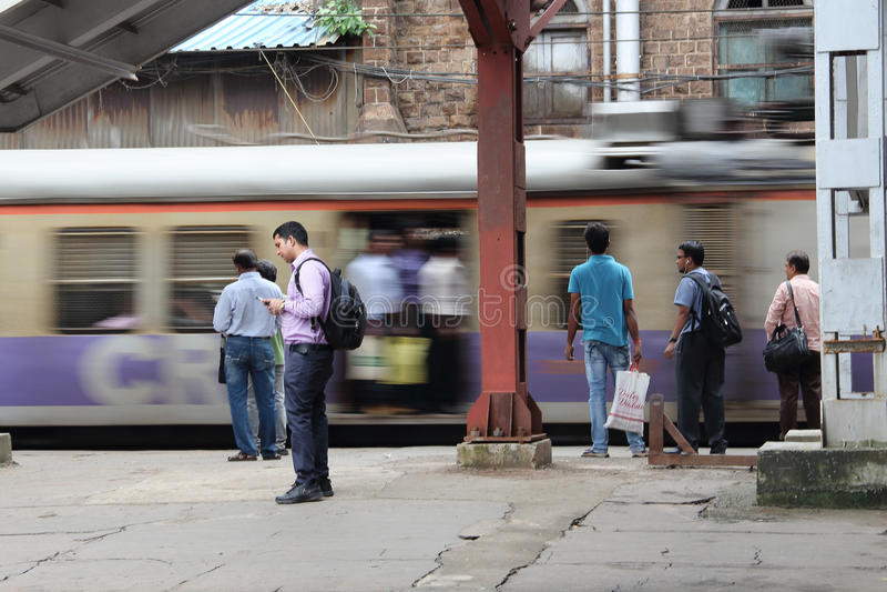 De trein in Bombay stock foto's