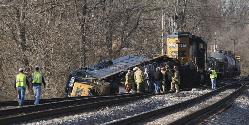 De trein deraled stock fotografie