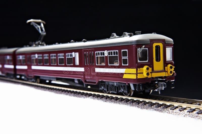 De trein en de spoorweg van het stuk speelgoed royalty-vrije stock foto
