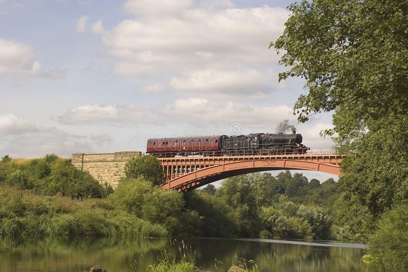 De Trein en het Vervoer van de stoom. stock foto's