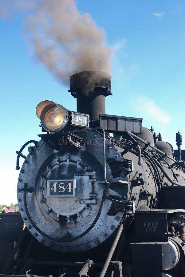 De Trein Rio Grande van Colorado - Steenkool stock afbeelding