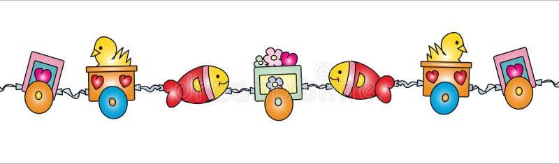 De trein van de baby stock illustratie