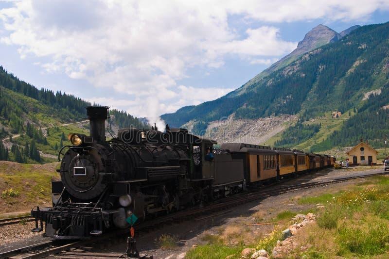 De Trein van de berg stock foto