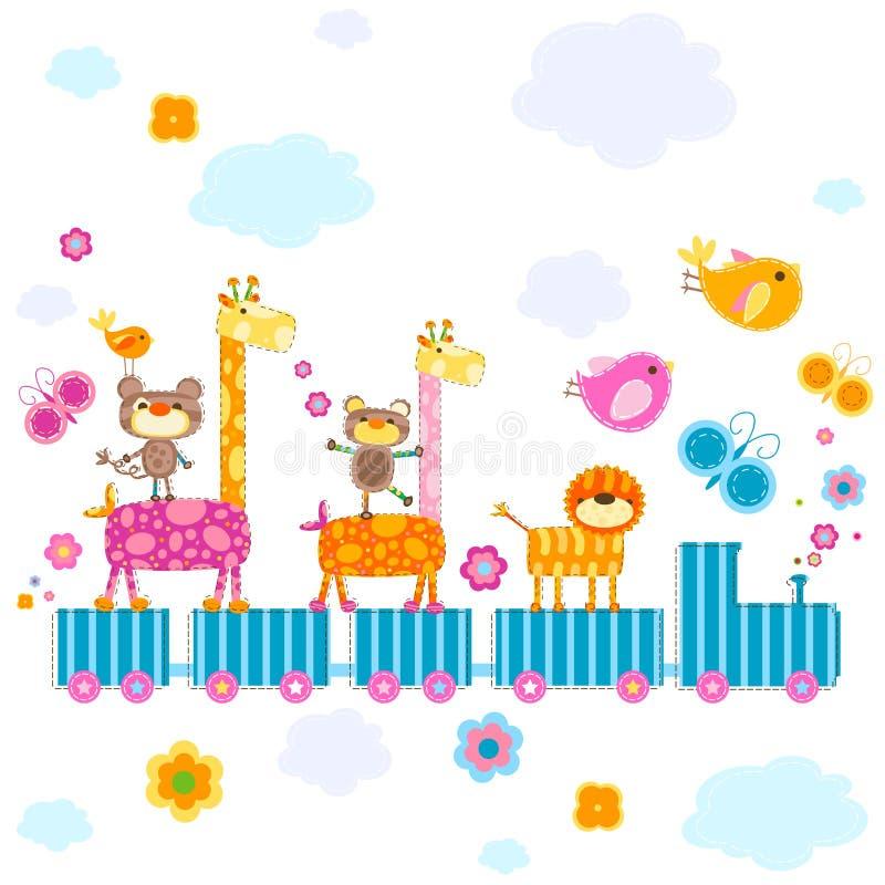 De trein van de dierentuin stock illustratie