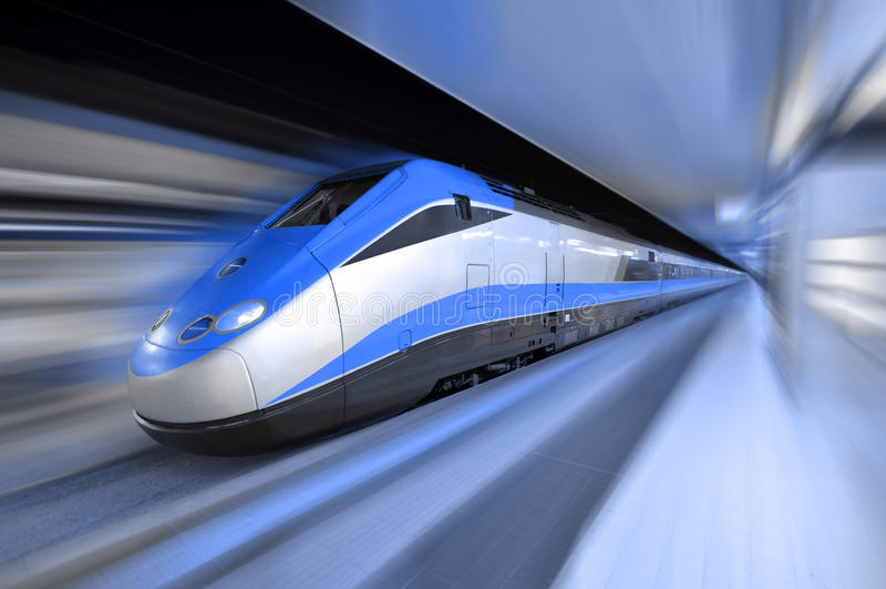 De trein van de hoge snelheid
