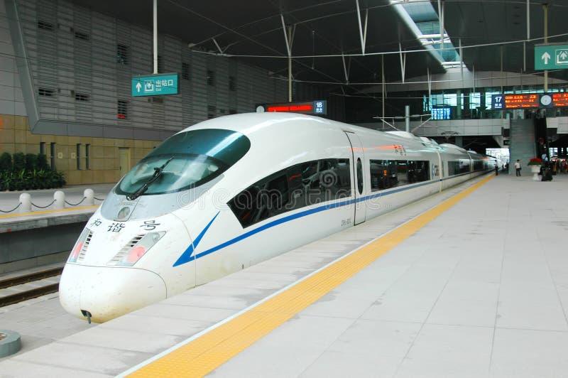 De trein van de hoge snelheid van China stock afbeeldingen