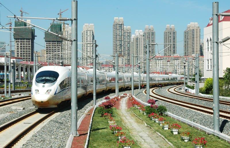De trein van de hoge snelheid van China royalty-vrije stock fotografie