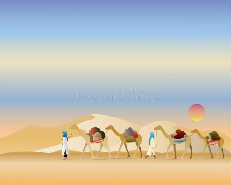 De trein van de kameel royalty-vrije illustratie