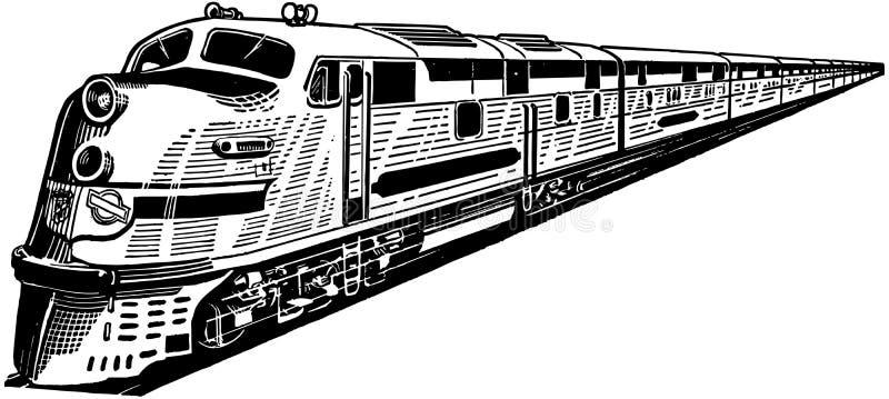 De trein van de passagier royalty-vrije illustratie