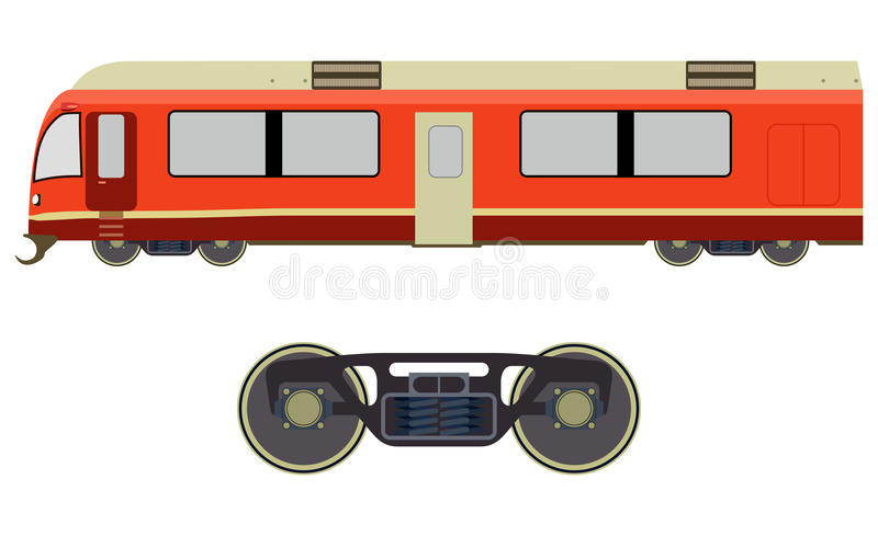 De trein van de passagier stock illustratie