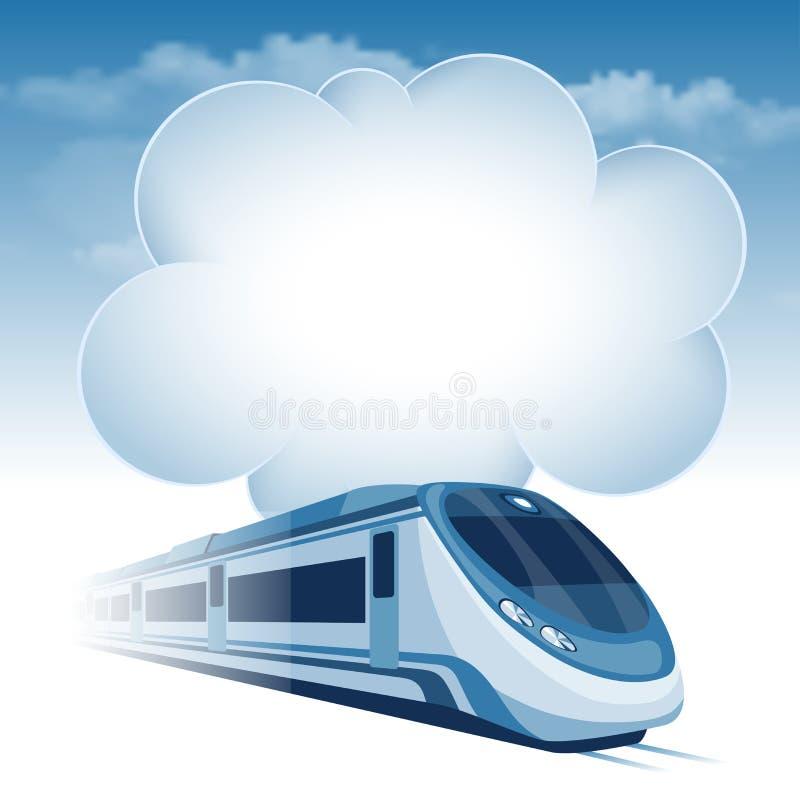 De trein van de passagiershoge snelheid stock illustratie