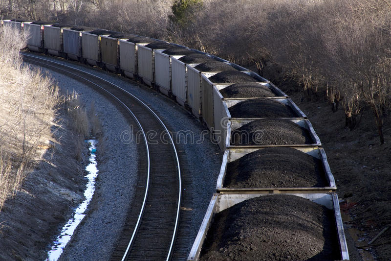 De trein van de steenkool.