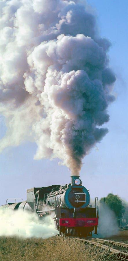 De trein van de stoom stock foto